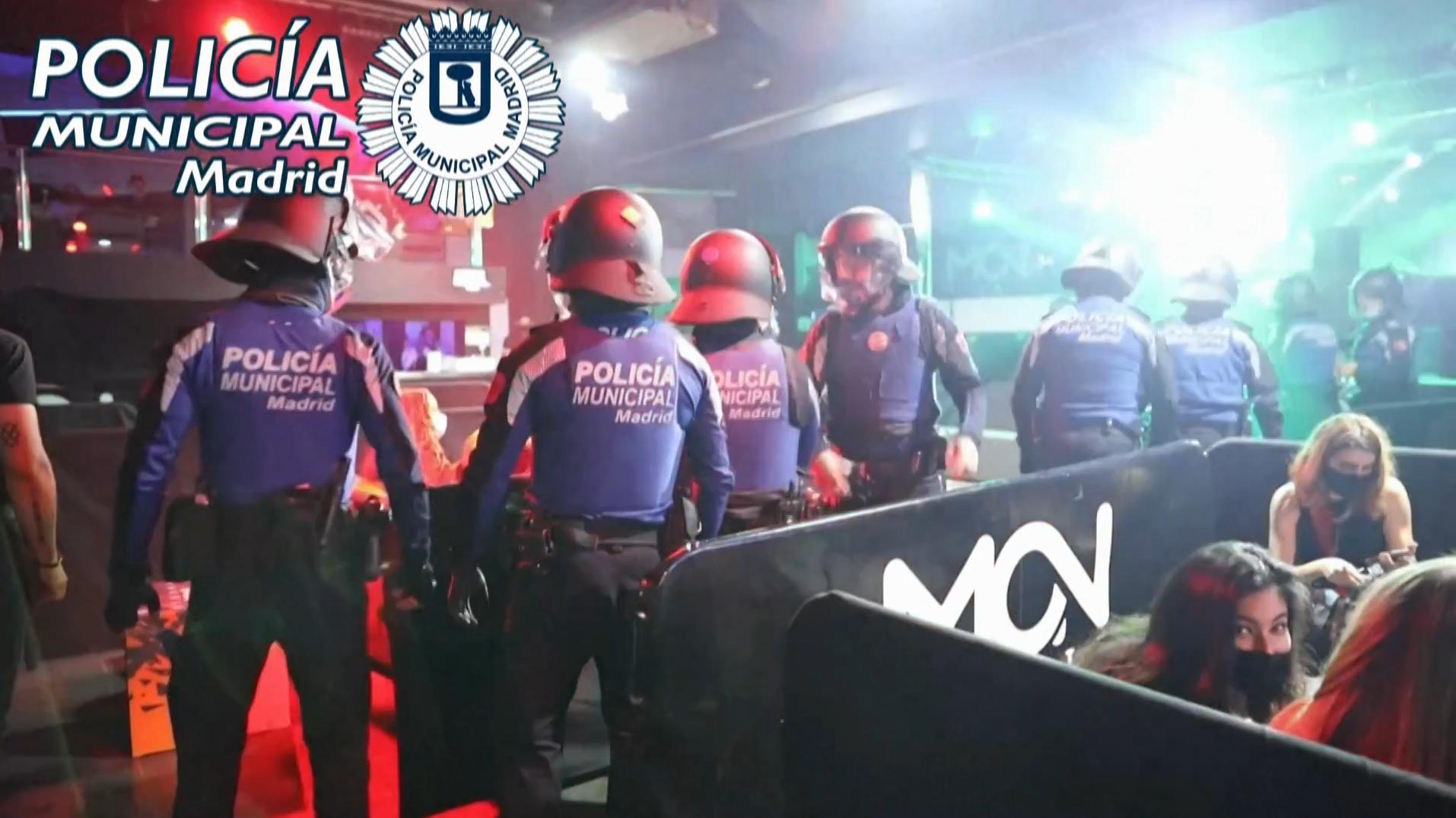 ესპანურმა პოლიციამ უკანონო წვეულებები დაშალა
