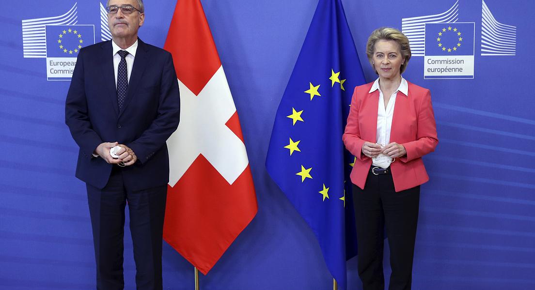 შვეიცარიის პრეზიდენტი გაი პარმელინი და ევროკომისიის პრეზიდენტი ურსულა ფოდ დერ ლაიენი